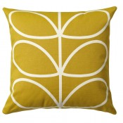 Orla Kiely 'Linear Stem' Cushion - Sunflower